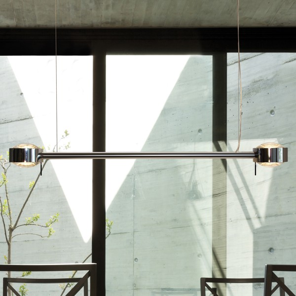 Top Light Puk Maxx Bone LED Pendelleuchte, Chrom, Linse klar / Linse klar