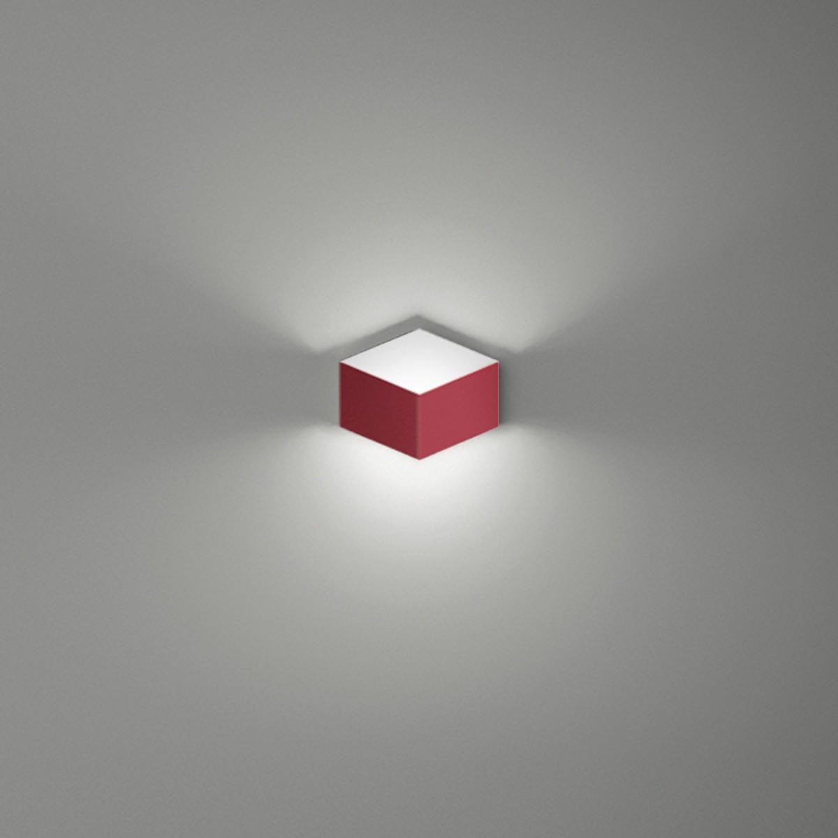 Vibia Fold 4200 Wandleuchte, rot matt