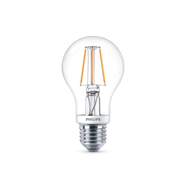 Philips LED Classic Lampe E27 5 W, warmweiß, dimmbar, klar