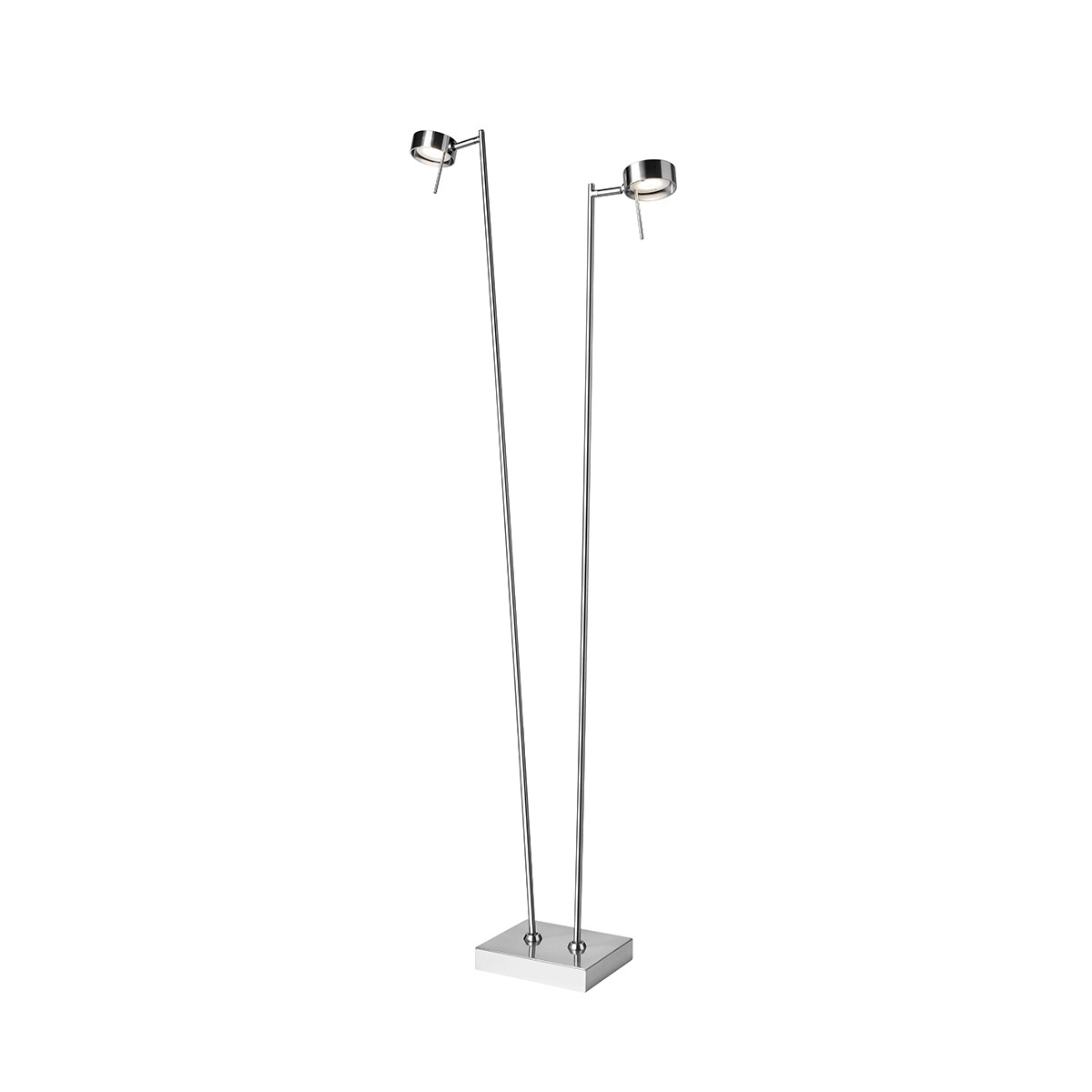 Sompex Bling LED Stehleuchte, 2-flg., Chrom matt