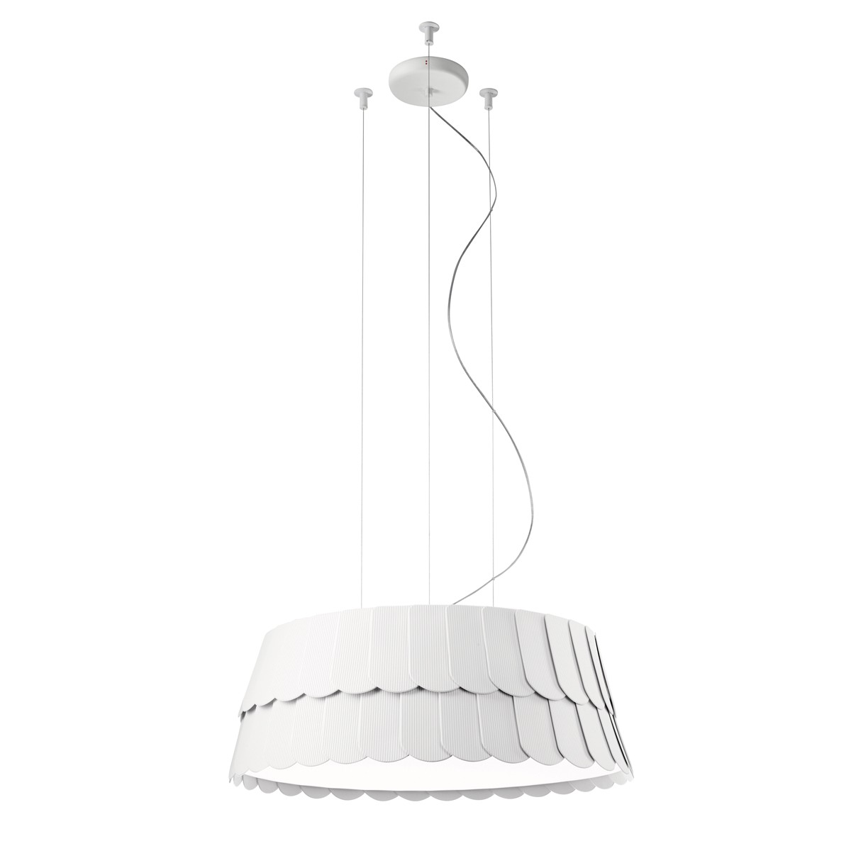 Fabbian Roofer Pendelleuchte, Ø: 59 cm, weiß
