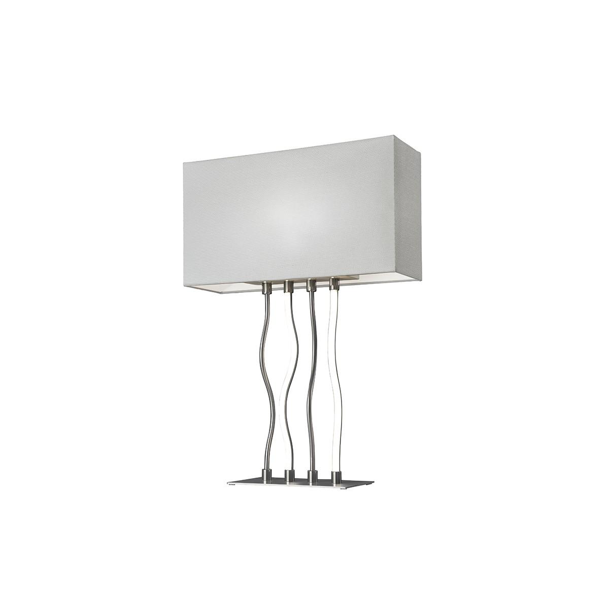 Sompex Viper LED Tischleuchte, Metall - Textil weiß