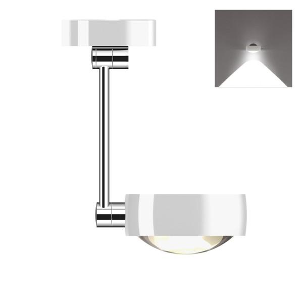 Occhio Sento C LED soffitto singolo up, 30 cm, Chrom / weiß glänzend