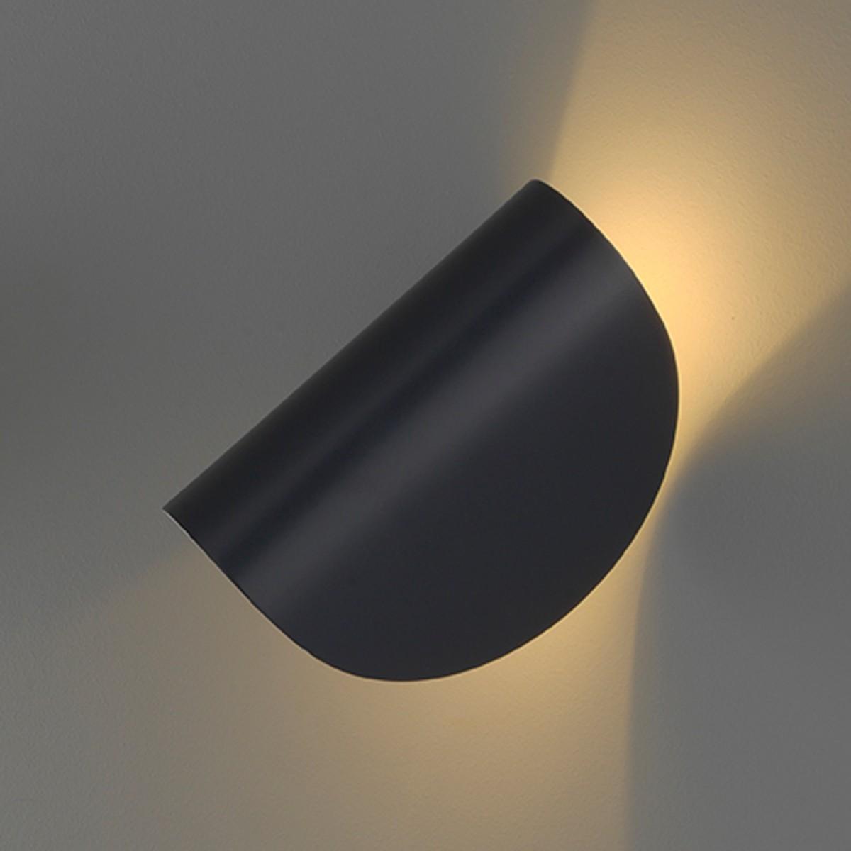 Fontana Arte Io LED Wandleuchte, grafitgrau