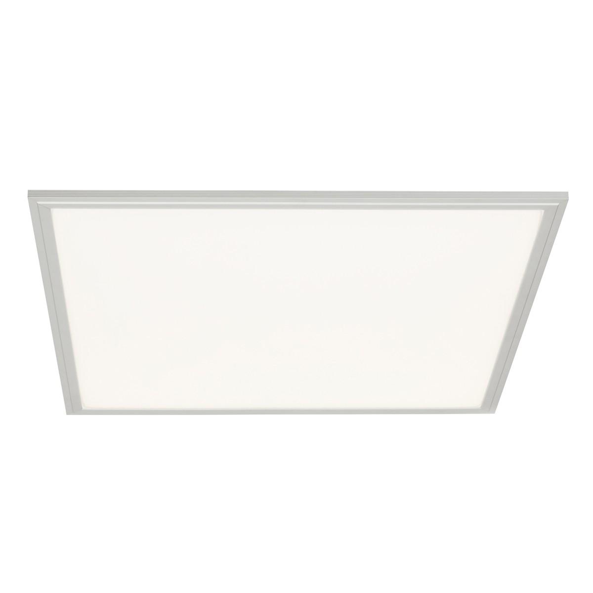 Brilliant Flat Deckenleuchte, quadratisch, 60 x 60 cm, Aluminium