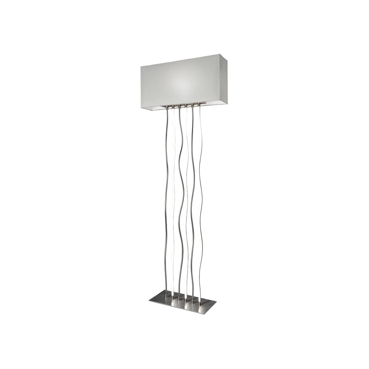 Sompex Viper LED Stehleuchte, Metall - Textil weiß