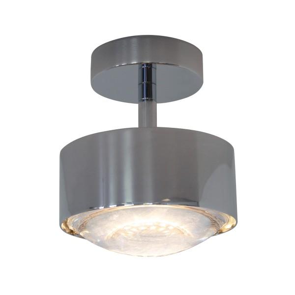 Top Light Puk Maxx Turn LED Downlight Deckenleuchte, Chrom, Linse klar