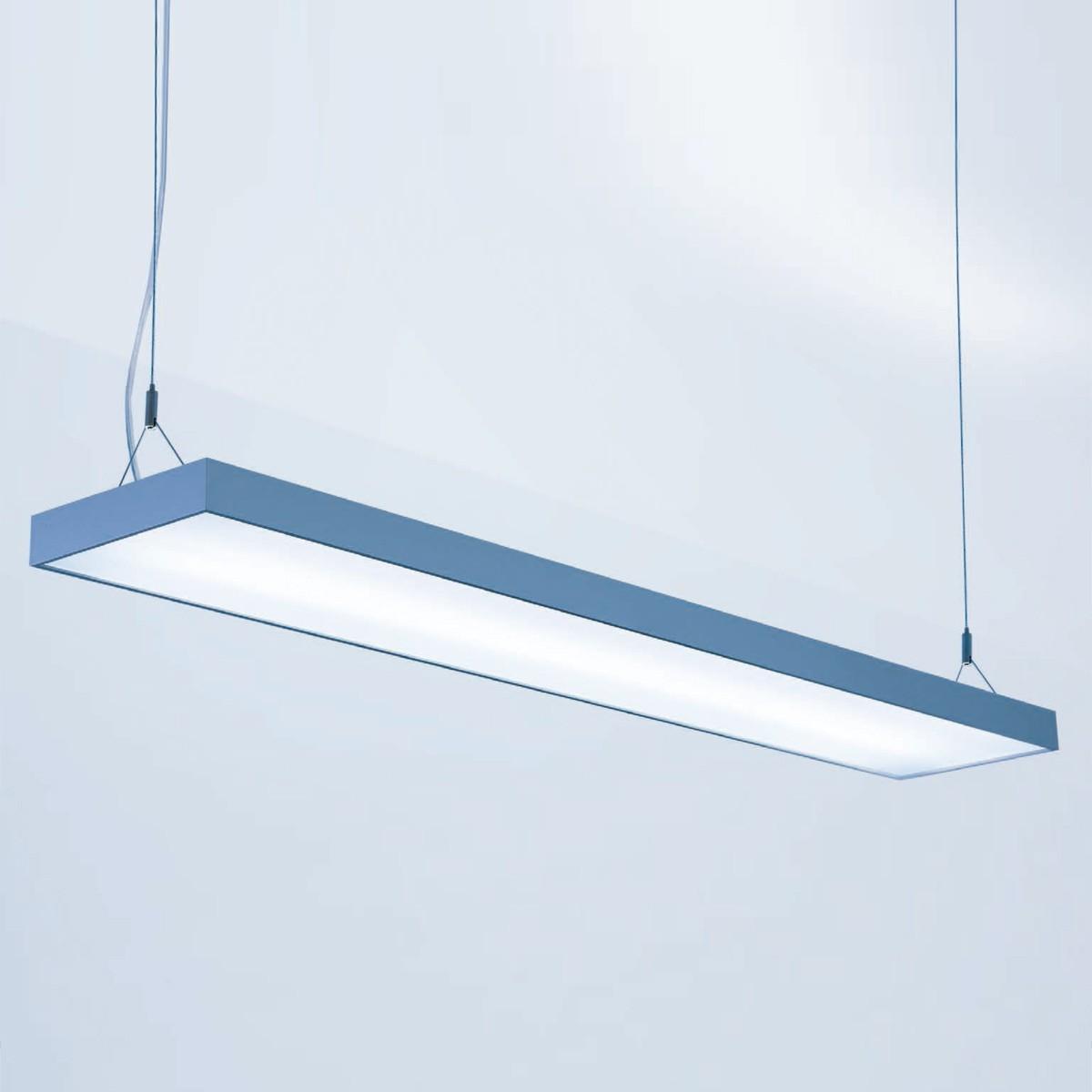 Lightnet Cubic-P1 Pendelleuchte, Länge: 90 cm, Aluminium natureloxiert