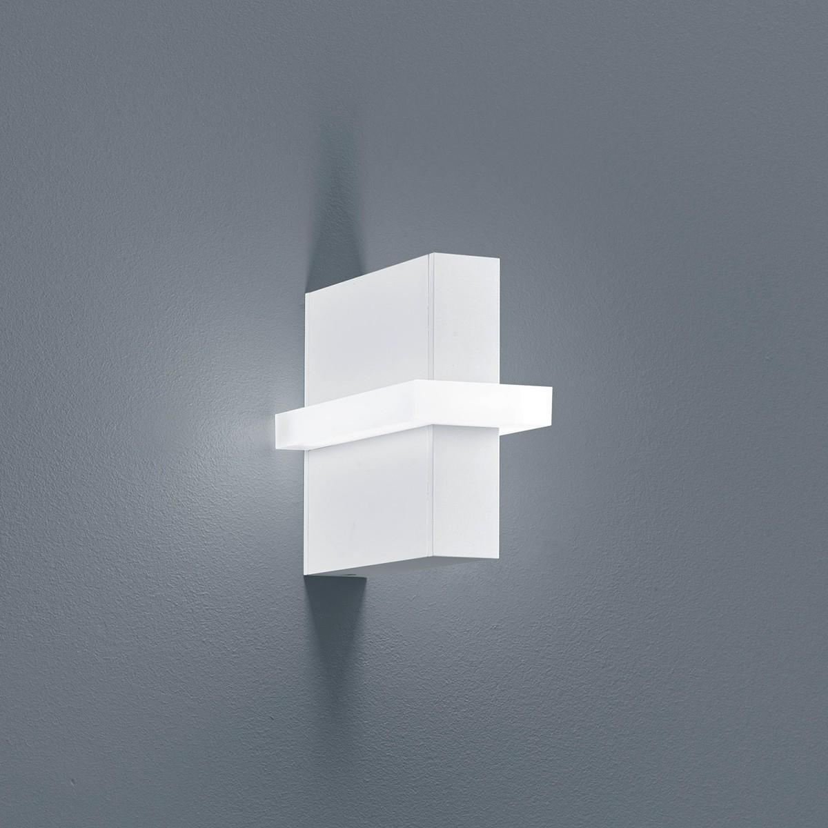 Helestra Oki LED Außenwandleuchte, weiß matt