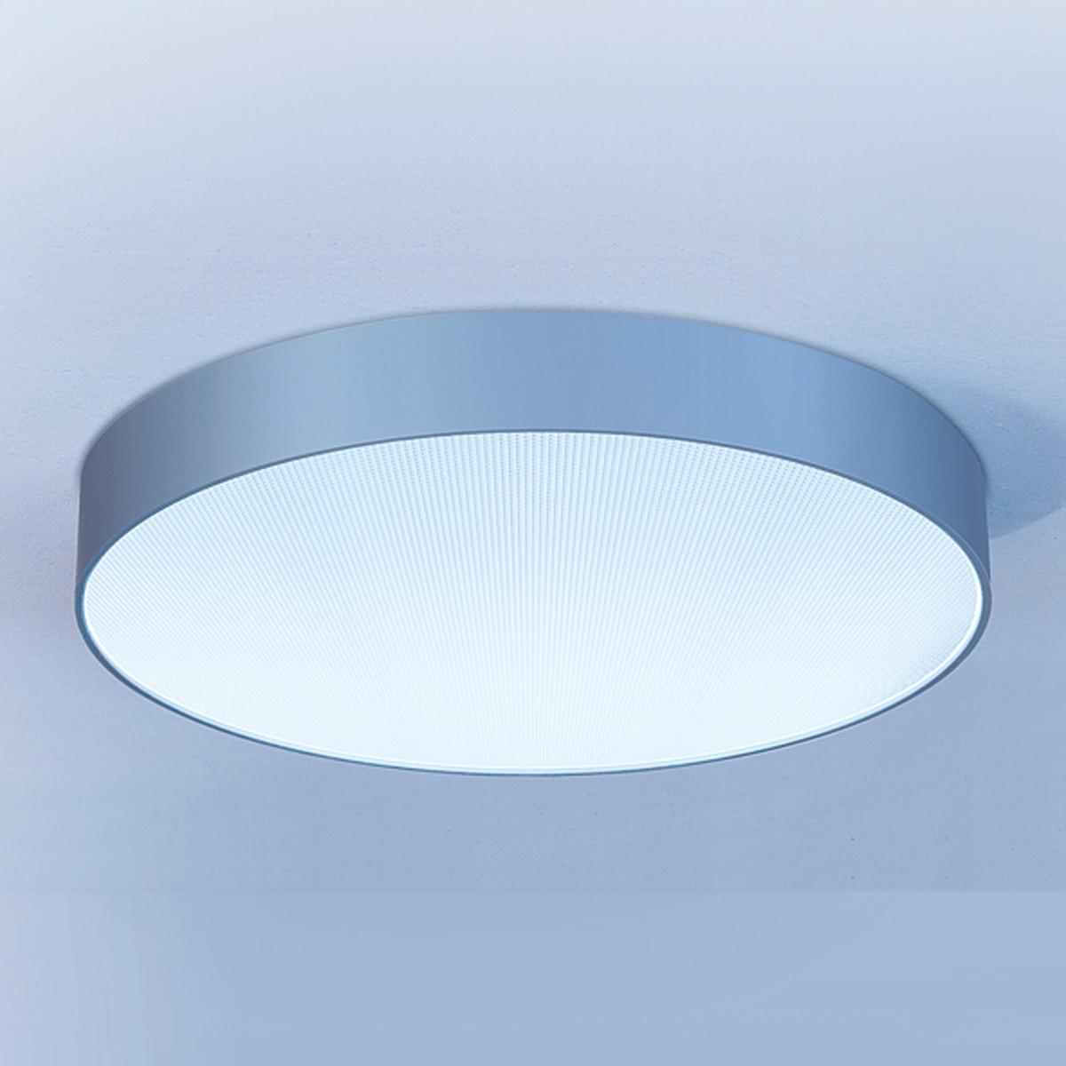 Lightnet Basic-A1 Deckenleuchte, Mikroprismatik, Ø: 20 cm, Silber matt