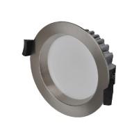 MOBiDIM SMD IP44 R145 Tunable White Einbauleuchte, Ø: 14,5 cm, ohne Fernbedienung, silbern (satiniert)