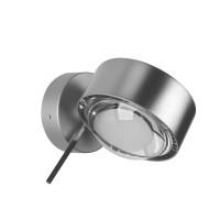 Top Light Puk Wall + LED Wandleuchte, Chrom matt, Glas satiniert / Linse klar