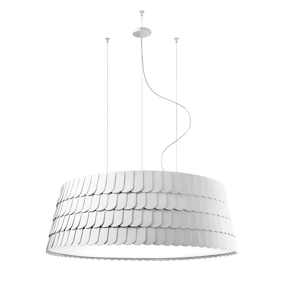 Fabbian Roofer Pendelleuchte, Ø: 119 cm, weiß