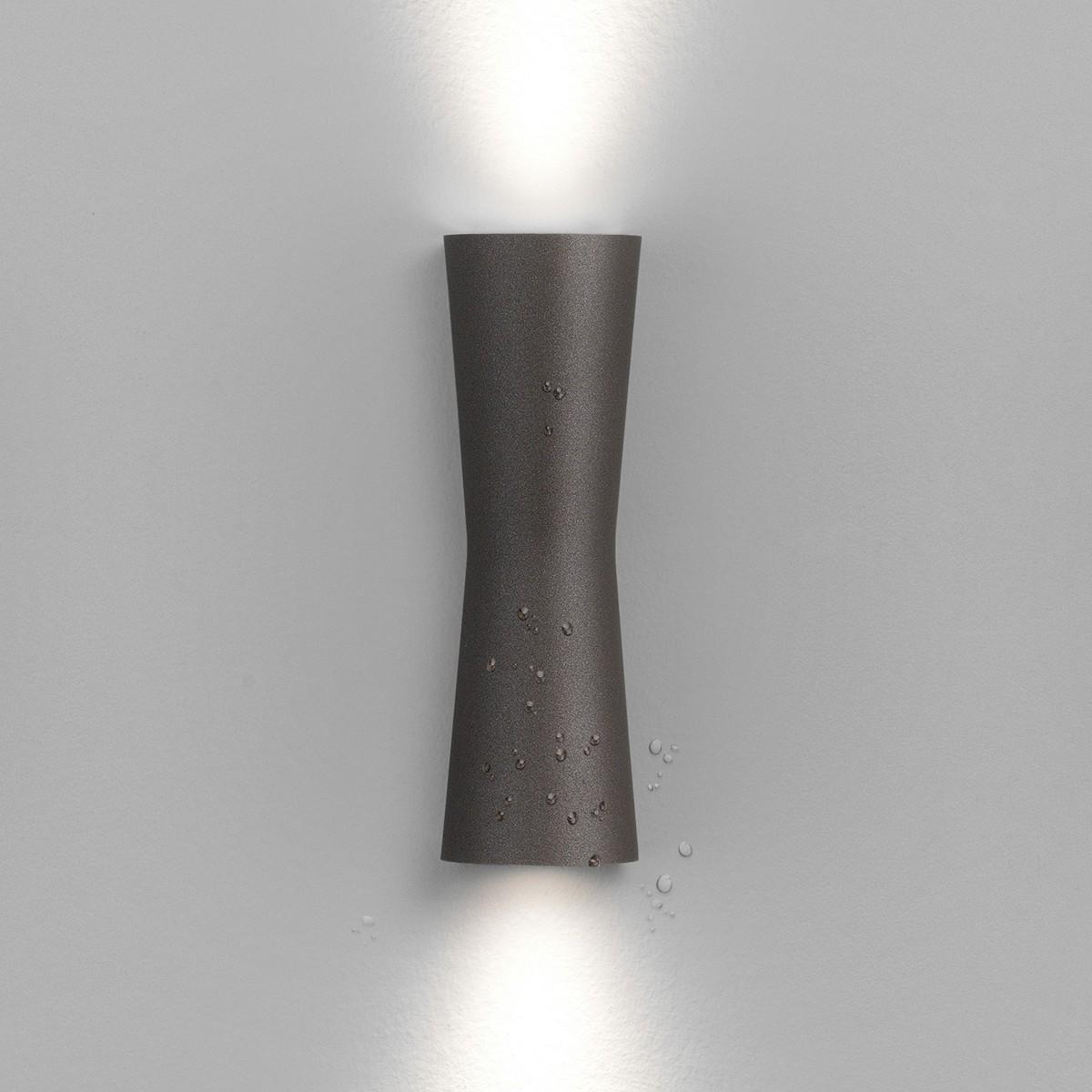 Flos Clessidra LED Outdoor Wandleuchte, Abstrahlwinkel: 20°+20°, deep brown