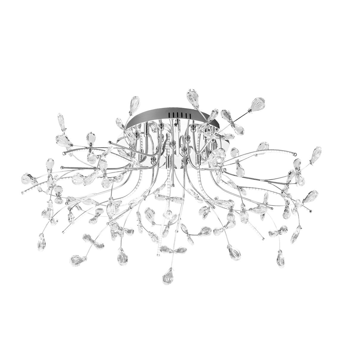 B-Leuchten Crystal LED Deckenleuchte, Ø: 77 cm 70327/770-02