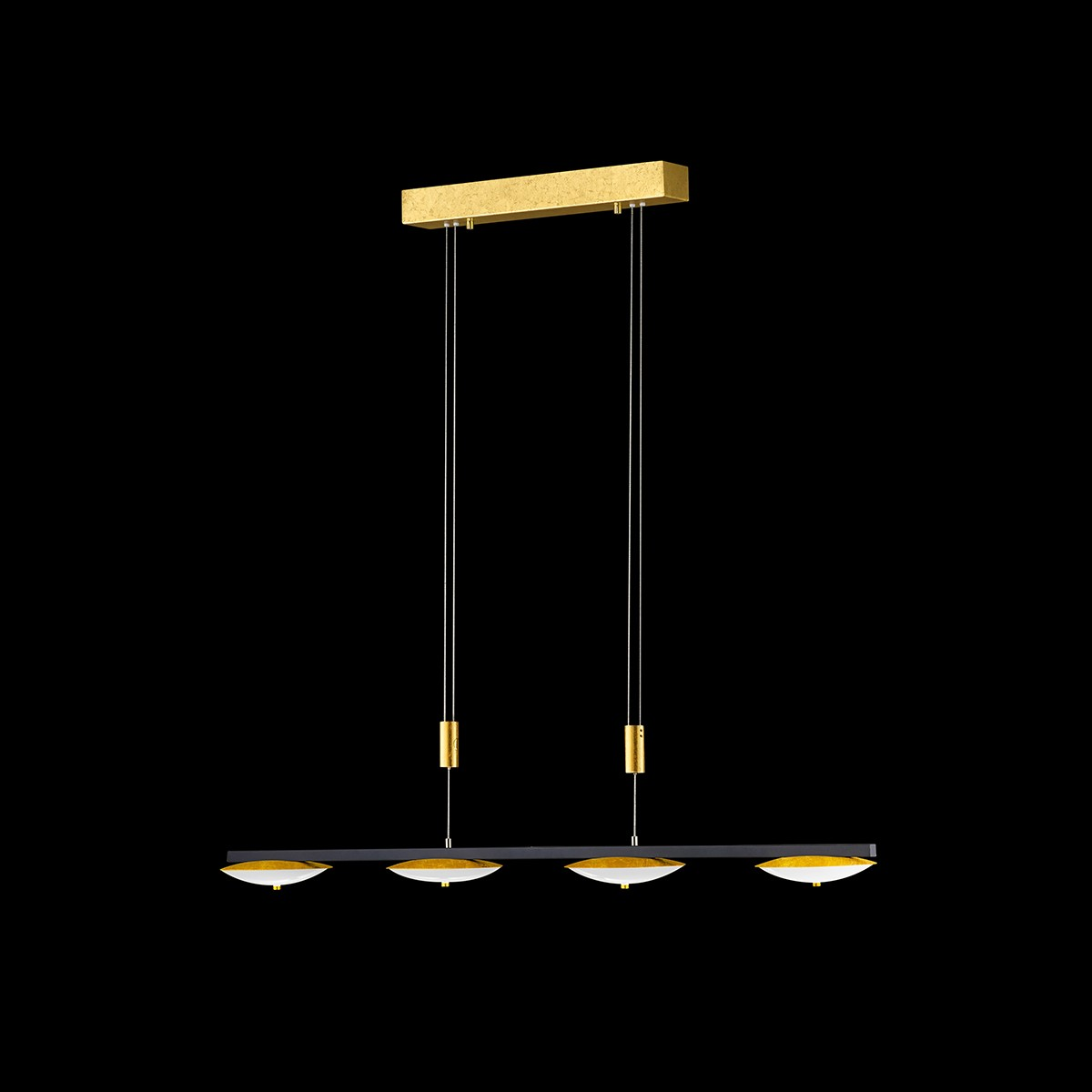 Luce Elevata Pure Up Pendelleuchte, Länge: 90 cm, Blattgoldoptik