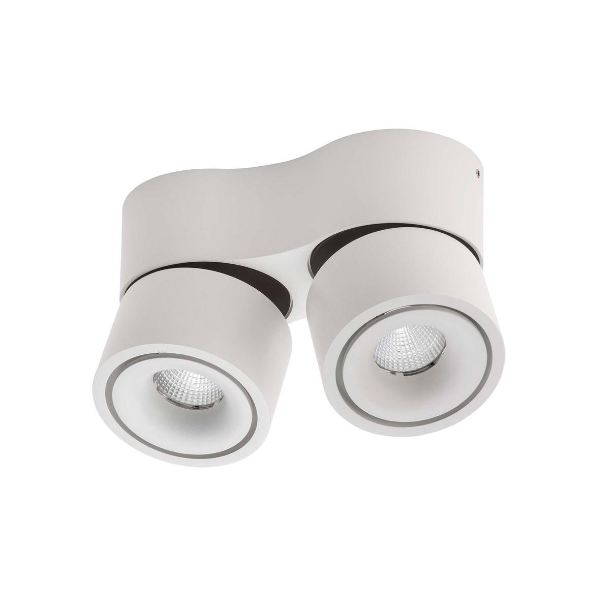 Lumexx Easy Mini Double LED Wand- / Deckenleuchte, weiß/schwarz