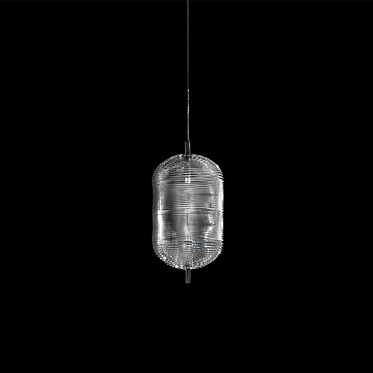 Studio Italia Design Jefferson Medium LED Pendelleuchte, Chrom schwarz - Kristallglas