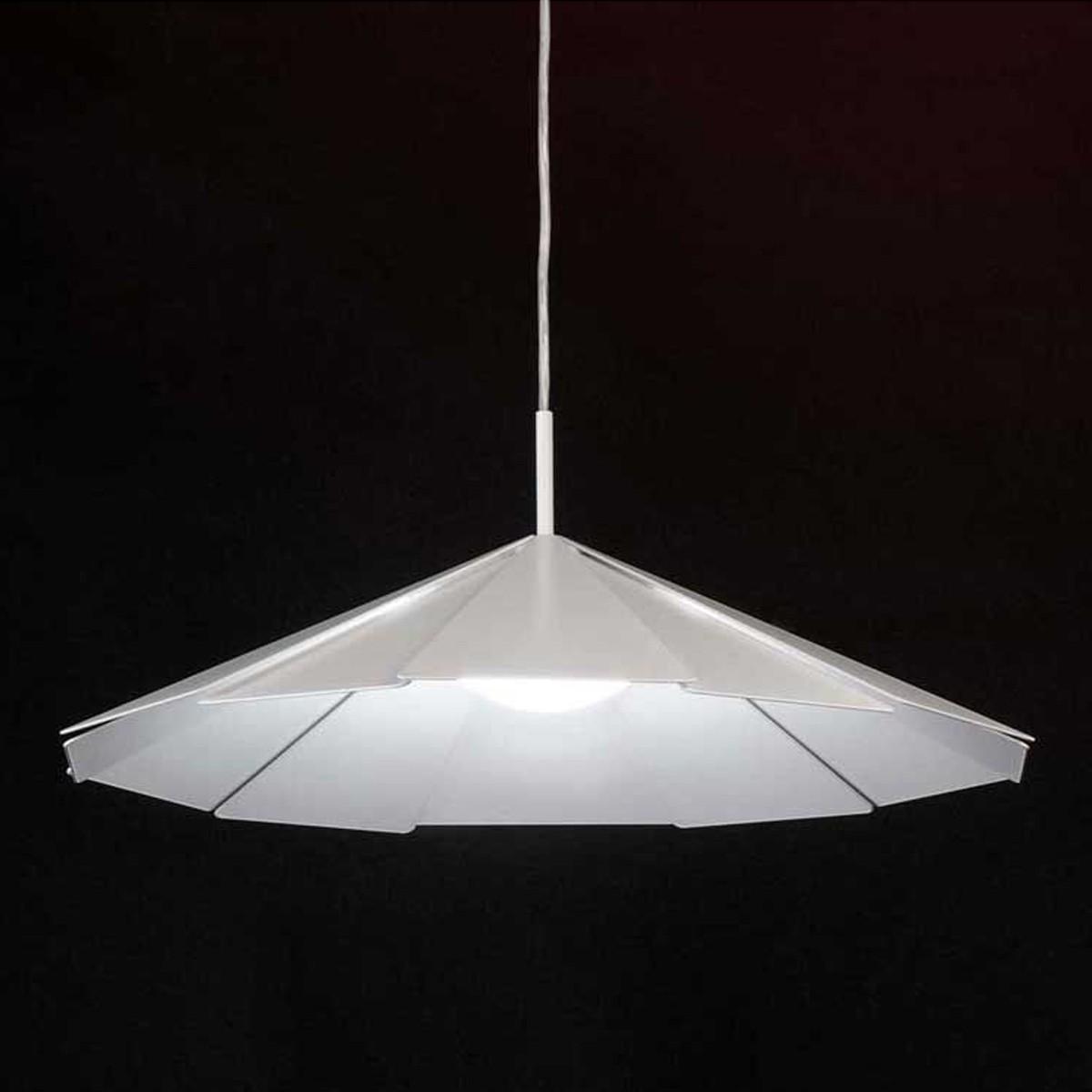 Milan Pam Pendelleuchte, Ø: 50,3 cm, weiß