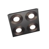 Grossmann Coax LED Deckenleuchte, 4-flg., quadratisch, schwarz-grau