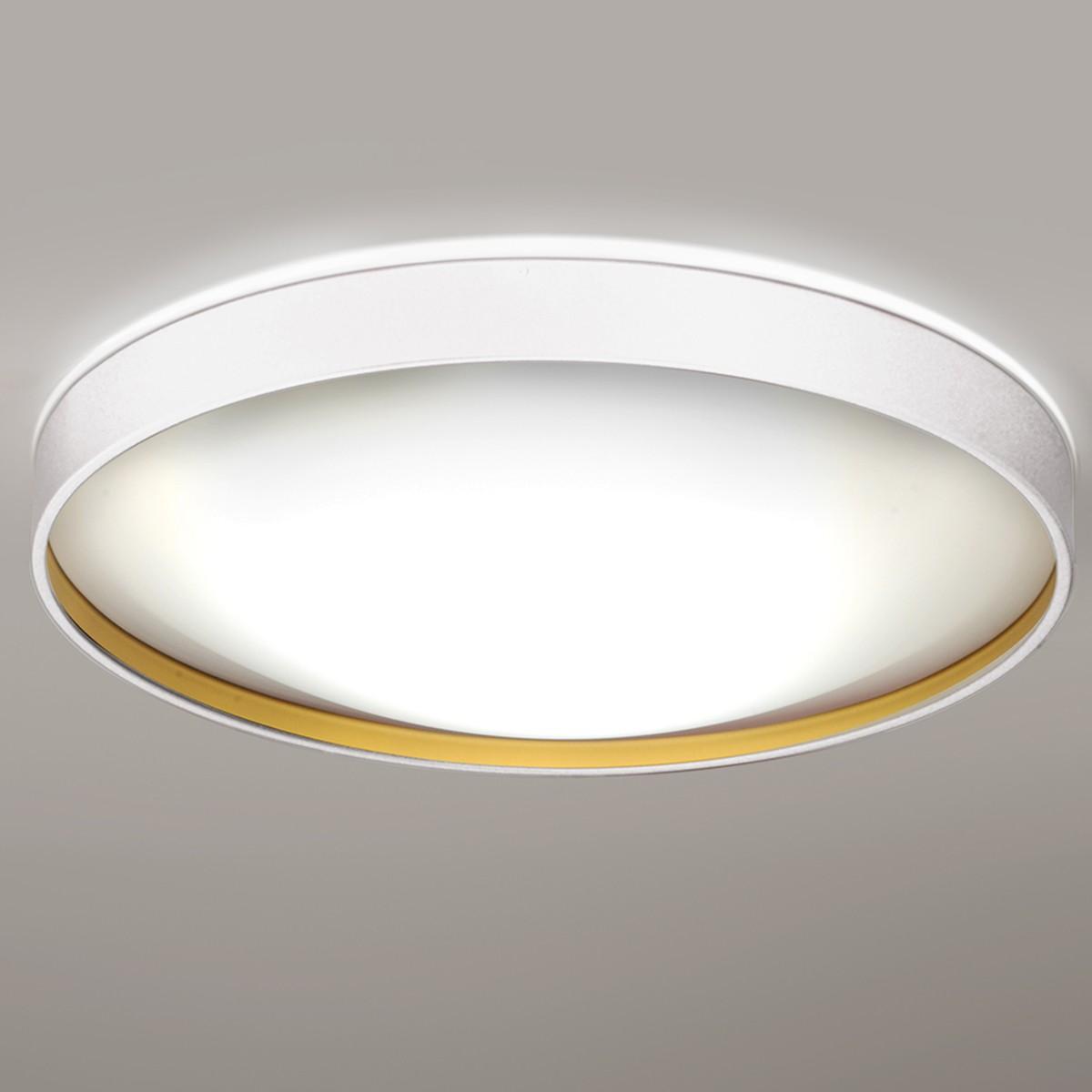 Milan Alina Deckenleuchte, Ø: 50 cm, weiß lackiert / Gold