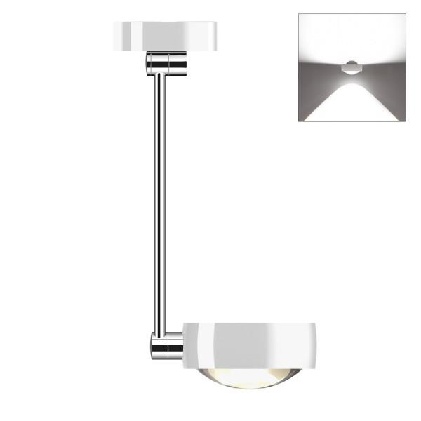 Occhio Sento E LED soffitto singolo up, 40 cm, Chrom / weiß glänzend