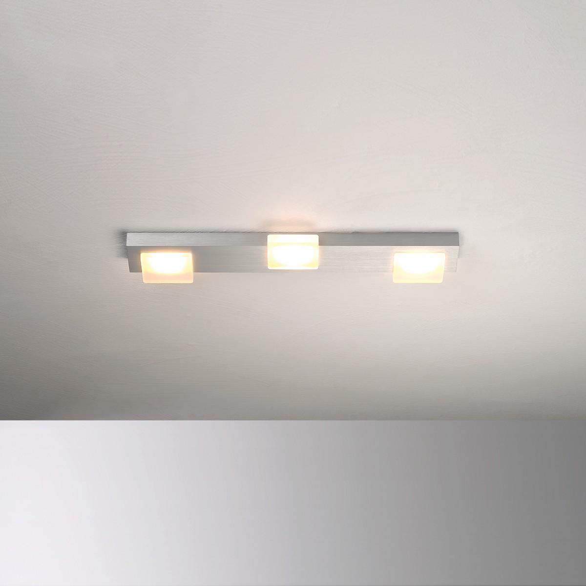 Bopp Lamina LED Deckenleuchte 3-flg., anthrazit