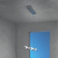 Silk Pendelleuchte, Länge: 120 cm, Aluminium geschliffen