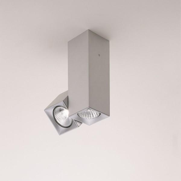 Milan Dau Spot Deckenstrahler, verstellbar, 2-flg., Aluminium