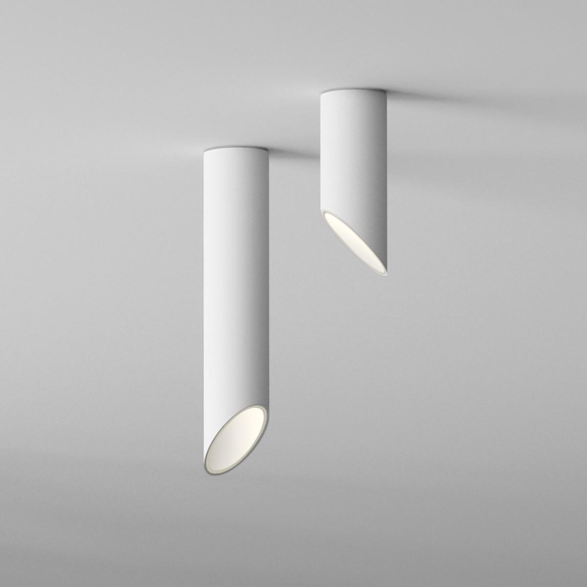 Vibia 45° Deckenleuchte, weiß matt, Höhe: 25 cm