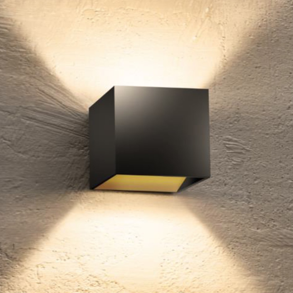 Bruck Cranny LED W Wandleuchte, schwarz / innen Gold