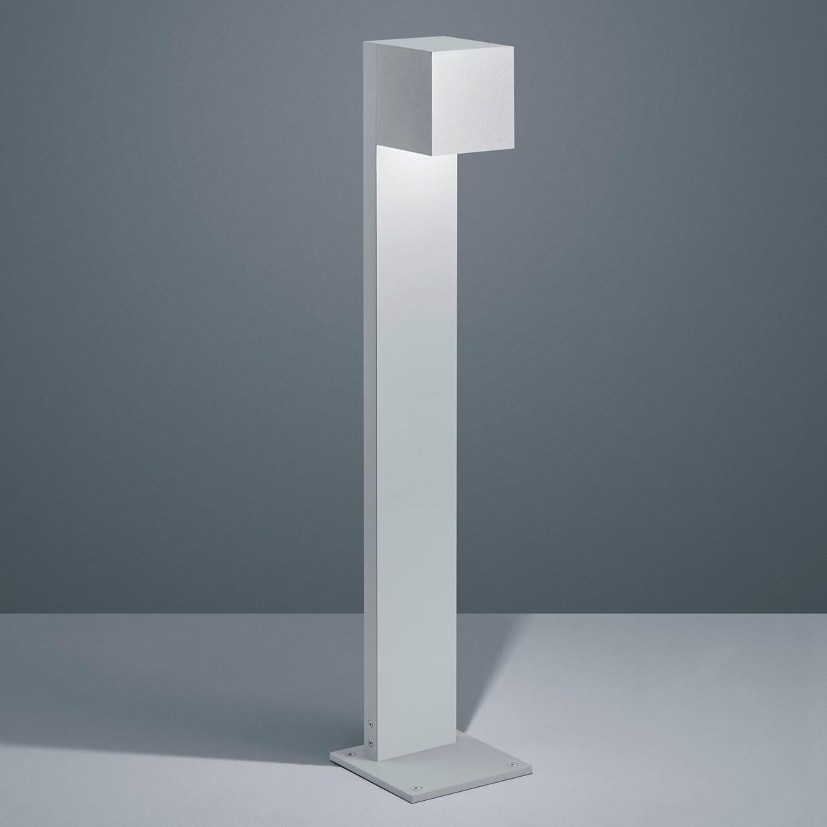 Helestra Siri 44 LED Pollerleuchte, silbergrau