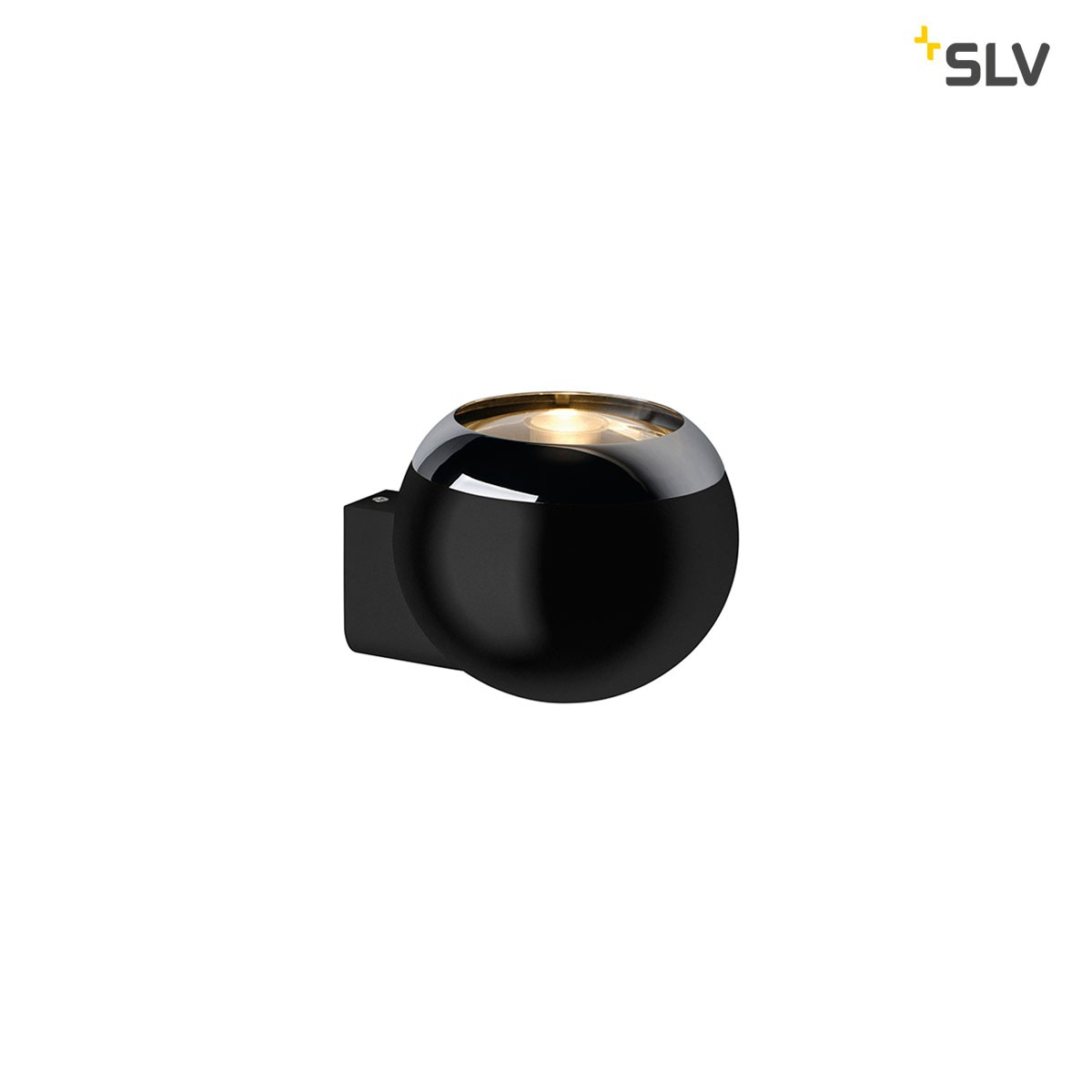 SLV Light Eye Wandleuchte, schwarz - Chrom