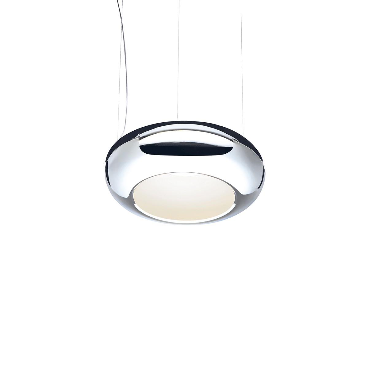Sompex Aura 01 LED Pendelleuchte, Ø: 37 cm, Chrom