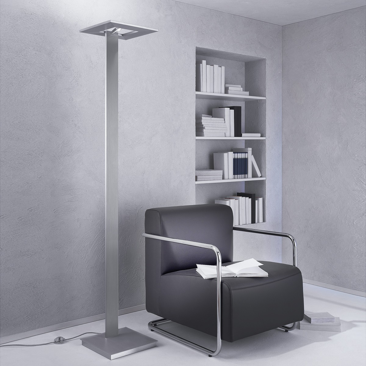 Escale Zen Stehleuchte, Aluminium geschliffen