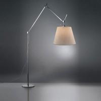 Tolomeo Mega Terra LED mit Schnurdimmer, Alu, Schirm: Pergament, Ø: 42 cm