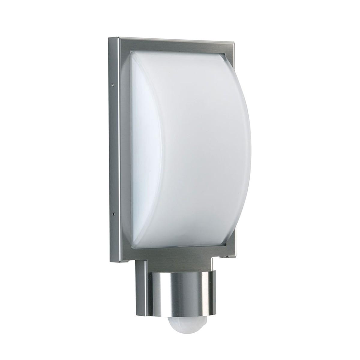 Albert 696383 LED Wandleuchte mit Bewegungsmelder, Edelstahl