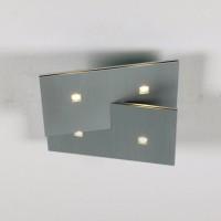 Bopp Extra LED Deckenleuchte, 4-flg., Aluminium geschliffen