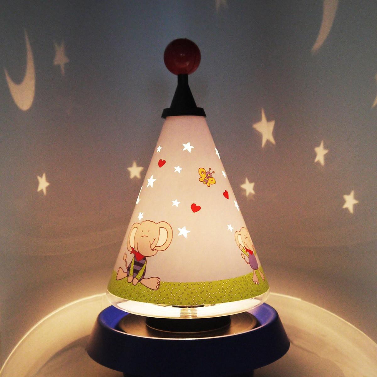 Niermann Standby Lolo Lombardo Carrousel Tischleuchte, mit Sternen Projektion