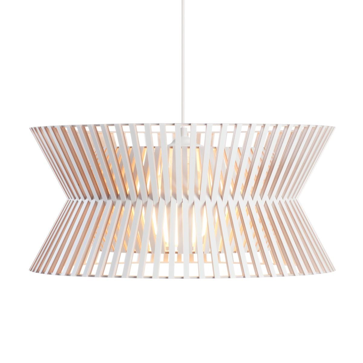Secto Design Kontro 6000 Pendelleuchte, weiß laminiert, Kabel: weiß
