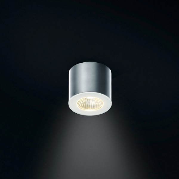 Helestra Oso Deckenstrahler, aluminium, rund