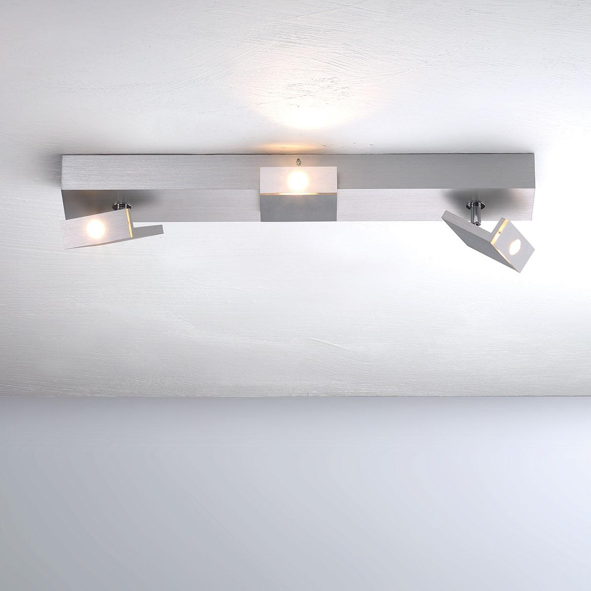 Bopp Elle LED Deckenleuchte, 3-flg., Aluminium geschliffen
