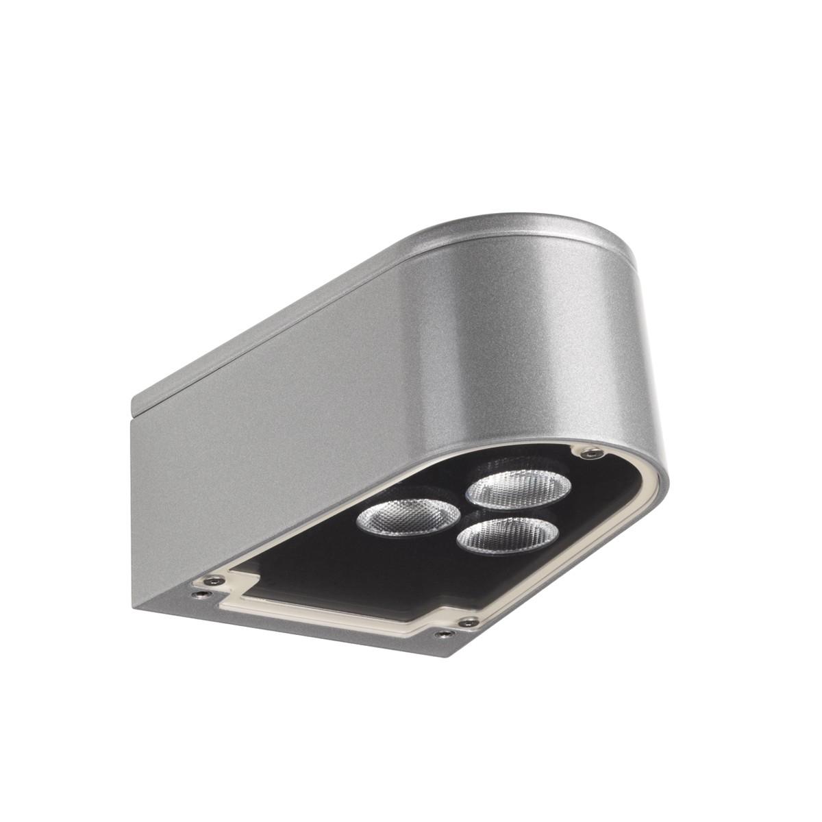 LCD Außenleuchten 1004 Up & Down Wandleuchte, Silber, Lichtausfall: schmal/breit