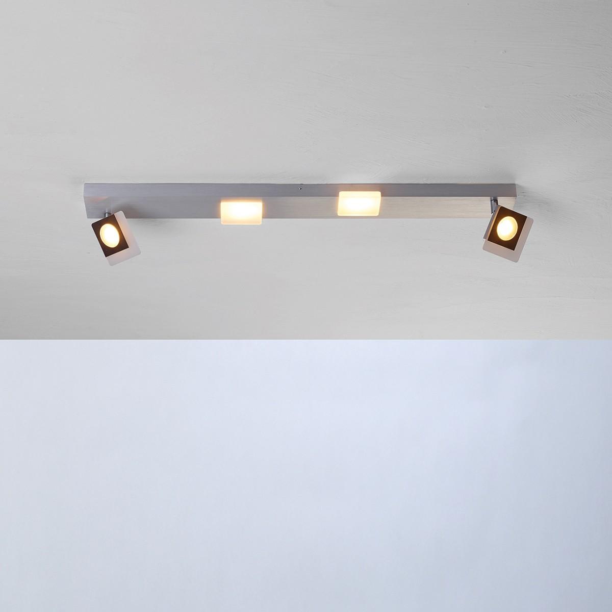 Bopp Session LED Deckenleuchte, 4-flg., Aluminium geschliffen