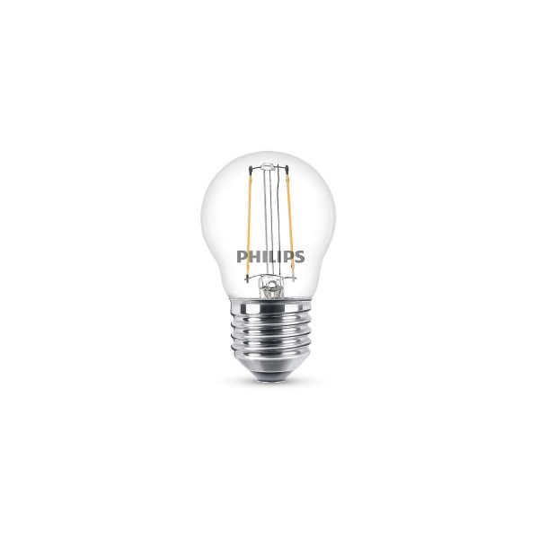 Philips LED Classic Tropfen E27 2 W, warmweiß, klar