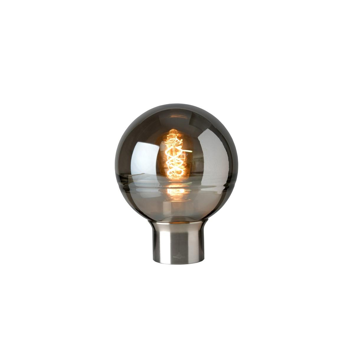 Villeroy & Boch Tokio Tischleuchte, Höhe: 24 cm, Metall: satin, Glas: rauchfarben
