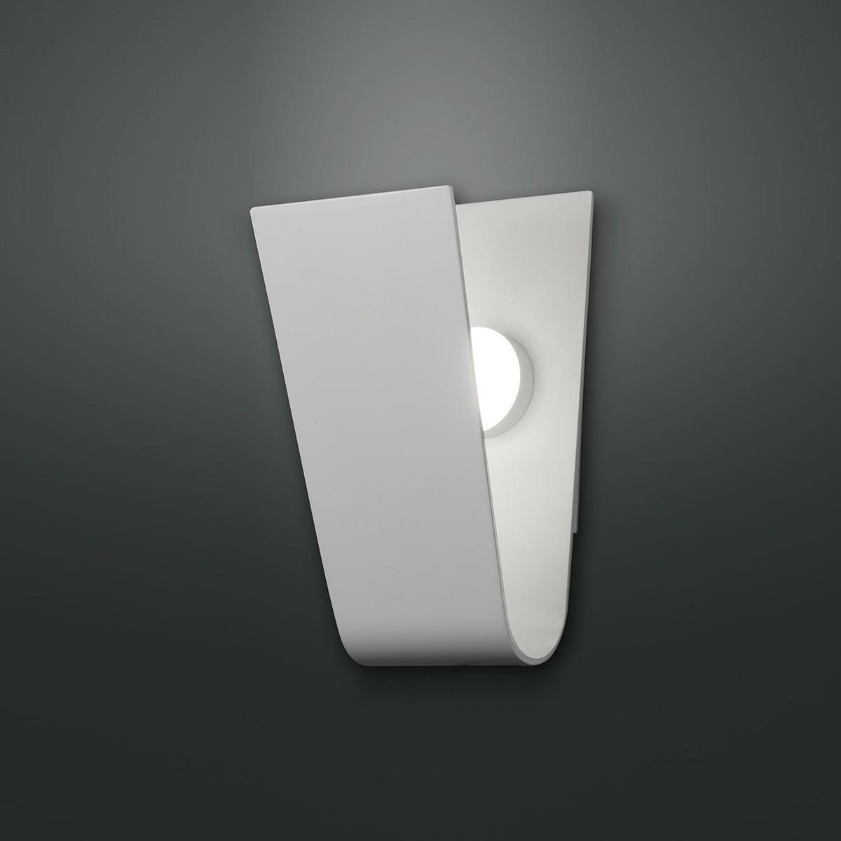 Fabas Luce Bend LED Wandleuchte, weiß