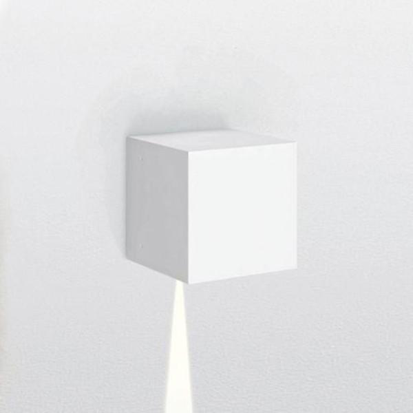 Artemide Outdoor Effetto 14S LED 1N Wandleuchte, 1 x 5°, hellgrau
