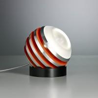 Bulo Tischleuchte, Aluminium / orange
