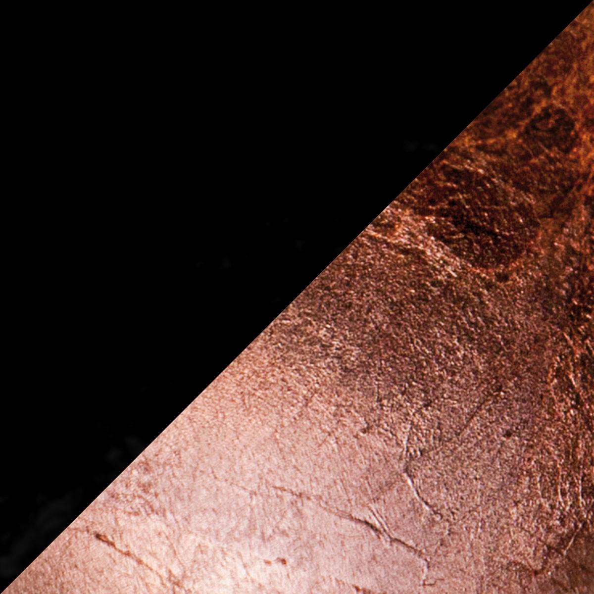 Catellani & Smith Lederam W Wand- / Deckenleuchte, Ø: 17 cm, Scheiben: schwarz/Kupfer